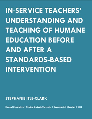 In-Service Teachers' Understanding and Teaching of Humane Education Before and After a Standards-Based Intervention
